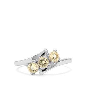0.57ct Merelani Danburite 9K White Gold Ring