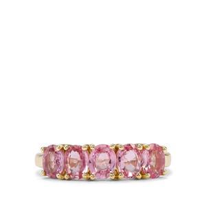 1.96ct Sakaraha Pink Sapphire 9K Gold Ring