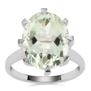 Prasiolite Ring in Sterling Silver 8.24cts