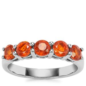 Loliondo Orange Kyanite Ring in Platinum Plated Sterling Silver 1.79cts
