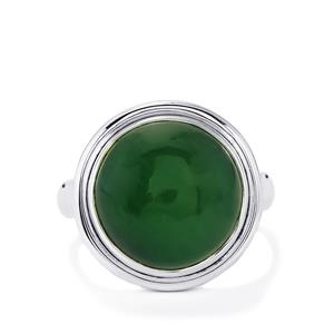 11ct Nephrite Jade Sterling Silver Aryonna Ring