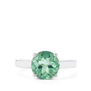 3.14ct Tucson Green Fluorite Sterling Silver Ring