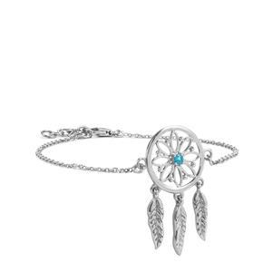 0.11ct Neon Apatite Sterling Silver Bracelet