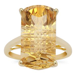 Lehrer Matrix Cut Diamantina Citrine Ring in 9K Gold 11.50cts