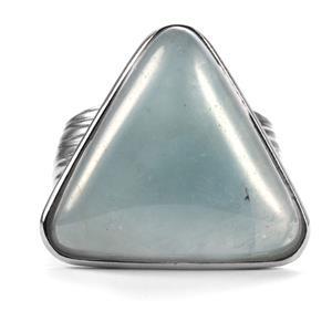 15.25ct Aquamarine Sterling Silver Sarah Bennett Ring