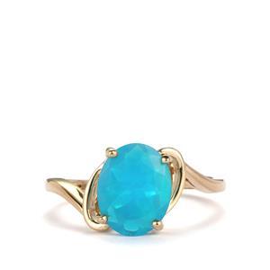 1.56ct Ethiopian Paraiba Blue Opal 9K Gold Ring