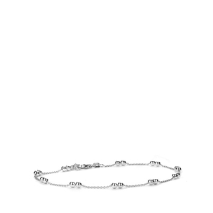 """9"""" Sterling Silver Couture Anklet 2.60g"""