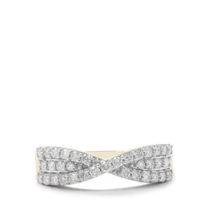 Canadian Diamond Ring in 9K Gold 0.51ct