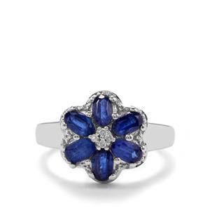 Daha Kyanite & Diamond Sterling Silver Ring ATGW 1.91cts