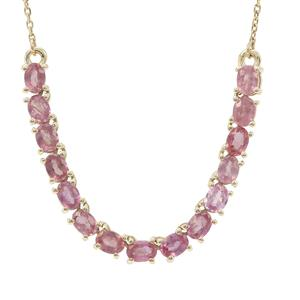 Padparadscha Sapphire Necklace in 9K Gold 2.15cts