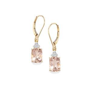 Galileia Topaz & Diamond 10K Gold Earrings ATGW 5.11cts