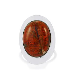 14ct Sonoreña Seam Agate Sterling Silver Aryonna Ring