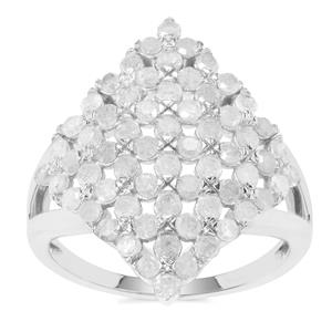 Diamond Ring in Sterling Silver 1.45ct