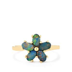 Boulder Opal Ring in 10K Gold