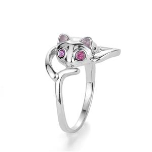 0.07ct Pink Tourmaline Sterling Silver Mau Ring