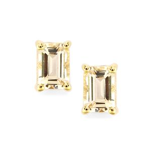 Rose Danburite Earrings in 10k Gold 1.14cts