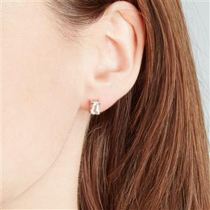 Rose Danburite Earrings in 10k Gold 1.14cts