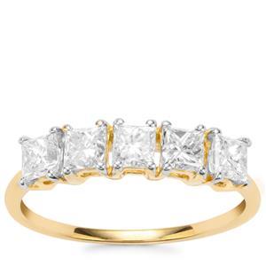 Diamond Ring in 18K Gold 1.16ct