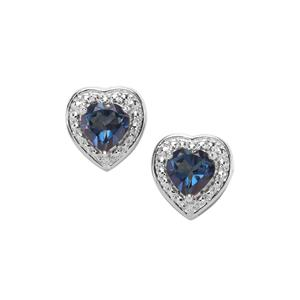 1.91ct Hope Topaz Sterling Silver Earrings