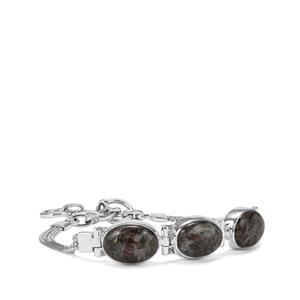 Astrophyllite Bracelet in Sterling Silver 17cts