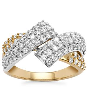 Diamond Ring in 18K Gold & Platinum 950 1ct