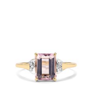 Mawi Kunzite & Diamond 10K Gold Ring ATGW 2.43cts