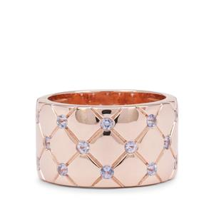 Tanzanite Ring in Rose Gold Plated Sterling Silver 0.60ct