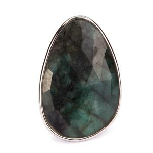 Emerald Sarah Bennett Ring in Sterling Silver 23.33cts