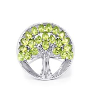 4.12ct Hunan Peridot Sterling Silver Ring