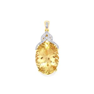 Serenite Pendant with Diamond in 18k Gold 19.05cts
