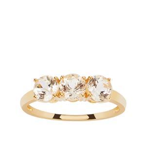 Danburite Ring in 9K Gold 1.45cts