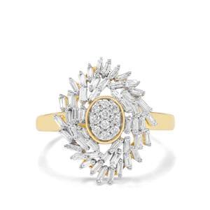 1/2ct G-H SI Diamond 18K Gold Tomas Rae Ring