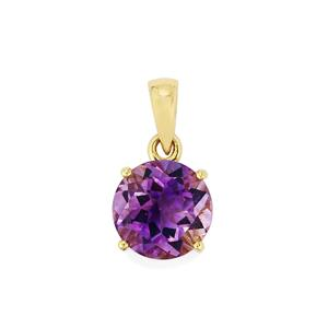 Moroccan Amethyst Pendant  in 10k Gold 3.35cts