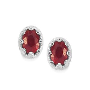 Malagasy Ruby Earrings in Sterling Silver 1.27cts (F)