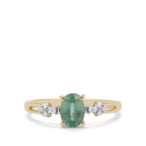 Odisha Kyanite & Diamond 9K Gold Ring ATGW 1.04cts