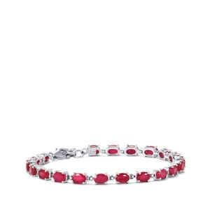 Malagasy Ruby Bracelet in Sterling Silver 14cts (F)