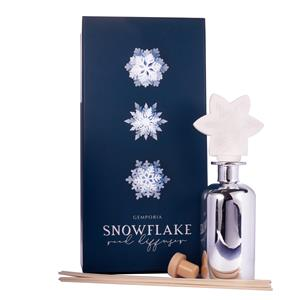 Snow Flake Christmas Reed Diffuser, Frosted Fir Fragrance With Snow Quartz ATGW 10cts