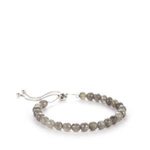 34ct Labradorite Sterling Silver Slider Bracelet