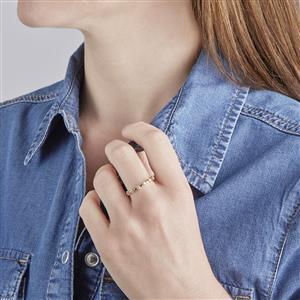 Diamond Ring in Vermeil 0.20ct