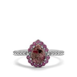 Bixbite & Sakaraha Pink Sapphire Sterling Silver Ring ATGW 1.24cts