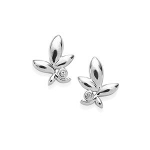 0.04ct White Topaz Sterling Silver Earrings