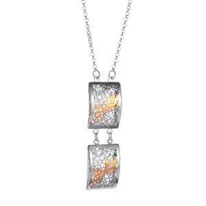 Bayeux Necklace in Two Tone Sterling Silver 6.59g