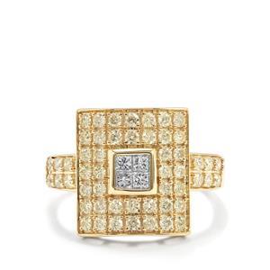 1ct Yellow & White Diamond 10K Gold Tomas Rae Ring