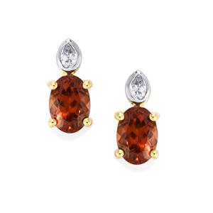 Zanzibar Zircon Earrings with Diamond in 18k Gold 2.76cts