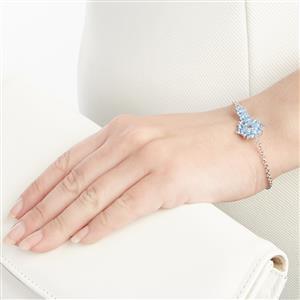 3.50ct Azure Blue Topaz Sterling Silver Bracelet