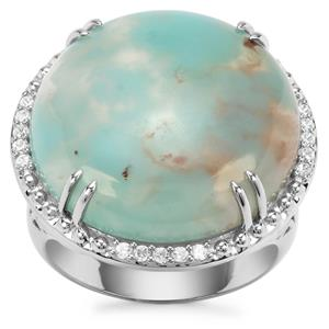 Aquaprase™ Ring with White Zircon in Sterling Silver 17.09cts