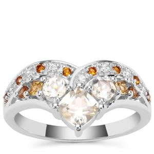 1.22ct Sunrise Sterling Silver Shades Ring