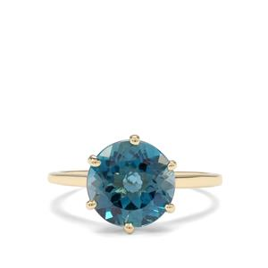 4.76ct Marambaia London Blue Topaz 9K Gold Ring