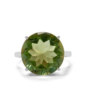 11.17ct Fern Green Quartz Sterling Silver Ring