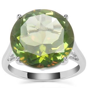 Fern Green Quartz Ring in Sterling Silver 11.17cts